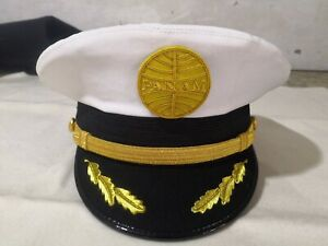 Austrian airlines pilot captain uniform hat wing badge patch 1980s