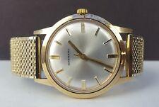 Vintage Entubado GARRARD sólido 9CT Oro Caballeros Reloj-mantiene muy buen momento