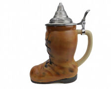 German Beer Boot Stein with lid