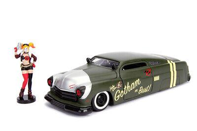 Jada 1:24 DC Comics Bombshells Harley Quinn & 1951 Mercury 30456 Matte Green  Car 801310304563 | eBay