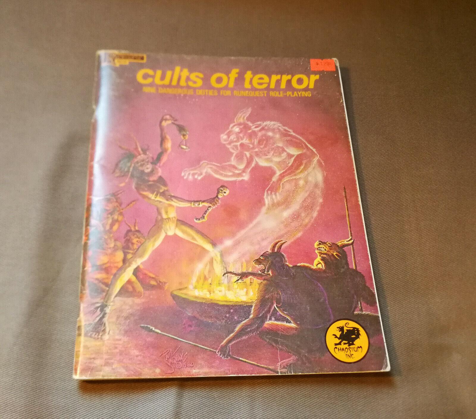 Runequest CULTS OF TERROR - deity sourcebook - vintage 1981 RPG