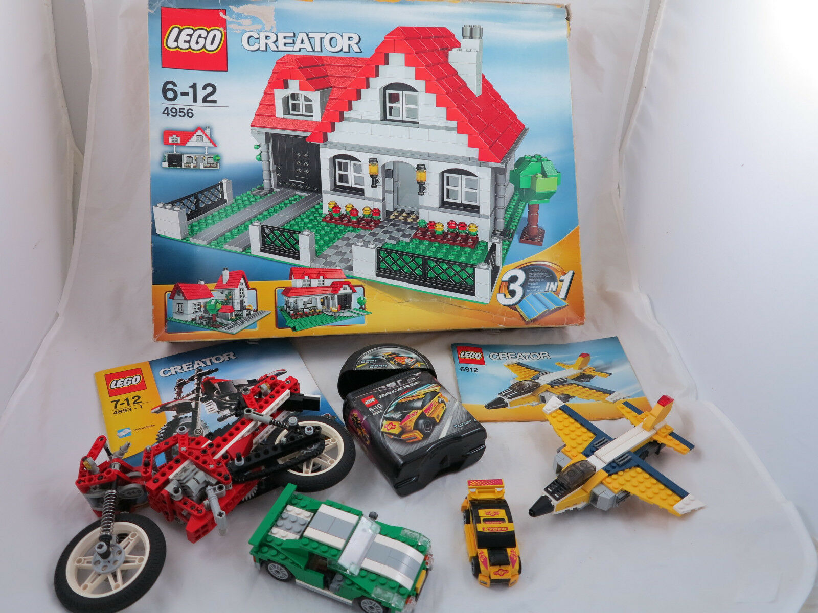LEGO CREATOR 4956 6912 8866 4893 Haus,Auto,Motorrad uvm Konvolut +OVP+OBA( 117)