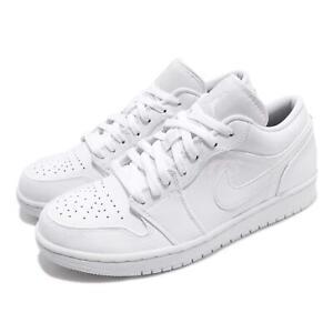Nike-Air-Jordan-1-Low-I-AJ1-Triple-White-Men-Classic-Shoes-Sneakers-553558-112