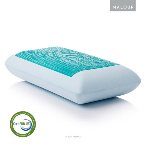 Queen and King Cooling Dual Z Gel Z Gel-Infused Dough Memory Foam Bed Pillow