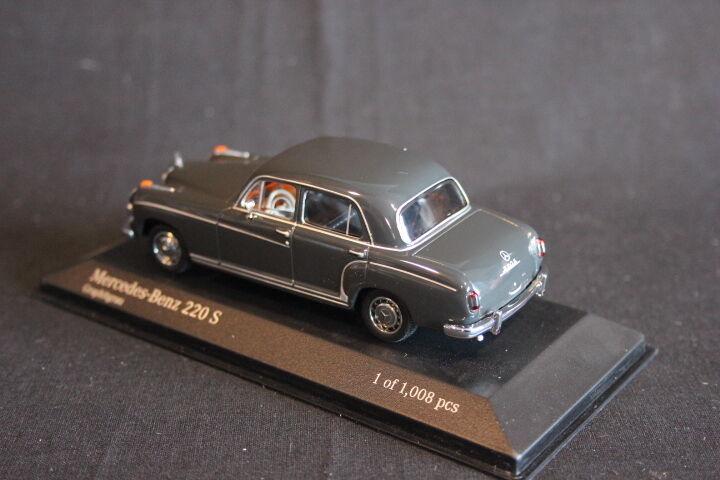 Minichamps Mercedes-Benz 220  S 1956 1 43 Graphitgrey Graphitgrey Graphitgrey (JS) ae098e