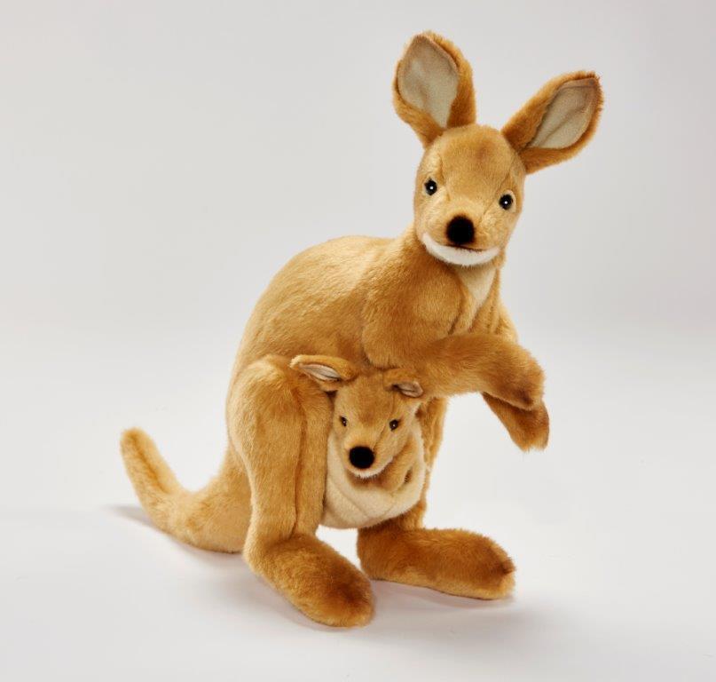 Wallaby con Baby 38 cm Peluche Animali Impagliati Peluche Hansa Toy 2782