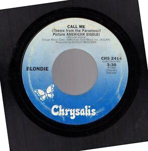 BLONDIE CALL ME B/(INSTURMENTAL VERSION) 45RPM USED VINYL RECORD