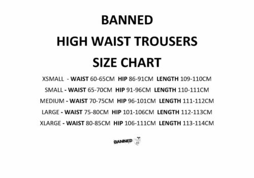 Banned Apparel Indiana Trouser Black PinUp 40s 50s Swing Pants Small XLarge