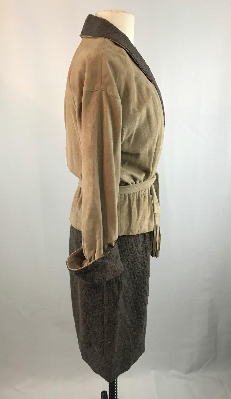 Vintage Bonnie Cashin Leather Jacket and Skirt Se… - image 5