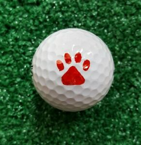 Golf Ball Marker Paw Print Plus - Paw Stencil plus Alignment Line and Circle