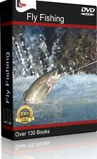 142 RARE BOOKS ON FLY FISHING - DVD - FLY TYING, SALMON & TROUT FLIES, ROD REEL