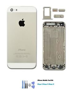 New iPhone 5 Silver Housing Replacement Back Cover Case free Tools