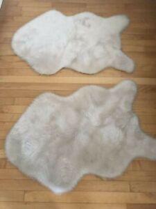2 Genuine Sheepskin Rugs Outlavish