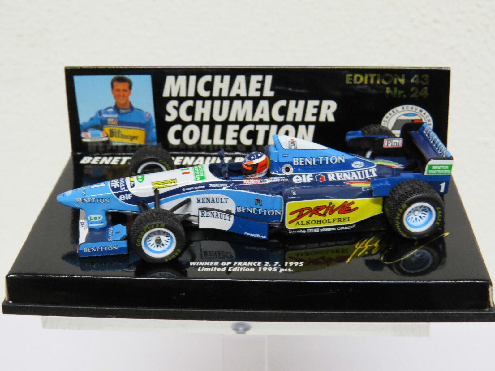 contador genuino Benetton Benetton Benetton B195 2 Winner GP France 2. 7. 1995 M. Schumacher Nr. 24 Nr. 510954318  envío gratuito a nivel mundial