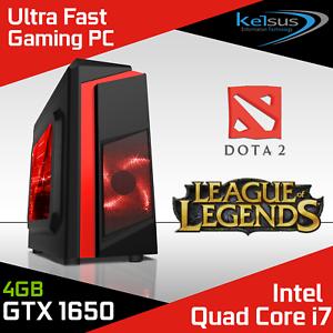 Quad-Core-i7-Gaming-PC-Computer-SSD-1TB-HDD-16-GB-RAM-GT710-GTX-1650-Win-10-WiFi