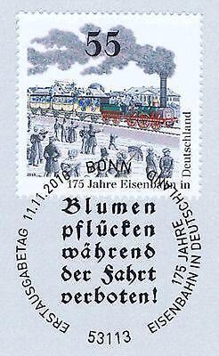 Hingebungsvoll Brd 2010: Eisenbahn Nr. 2833! Blumenpflücken-verboten-ersttags-stempel! 1a! 1906 Blut NäHren Und Geist Einstellen
