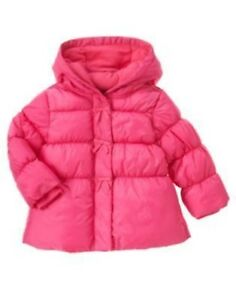 GYMBOREE-CHEERY-ALL-THE-WAY-PINK-BOW-PUFFER-HOODED-JACKET-6-12-24-2T-3-4T-5T-NWT