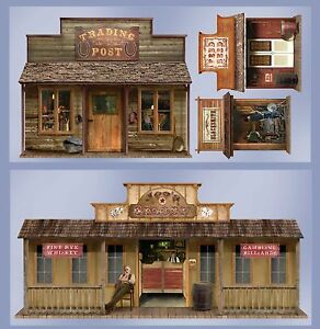 4-WILD-WEST-TOWN-Props-WALL-DECORATIONS-Cowboy-OUTLAW-Western