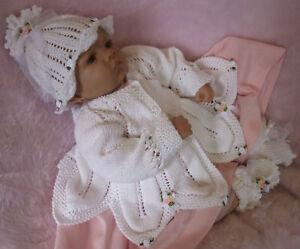 Knitting Pattern To Make Rossetti Baby Matinee Set To Fit Newborn