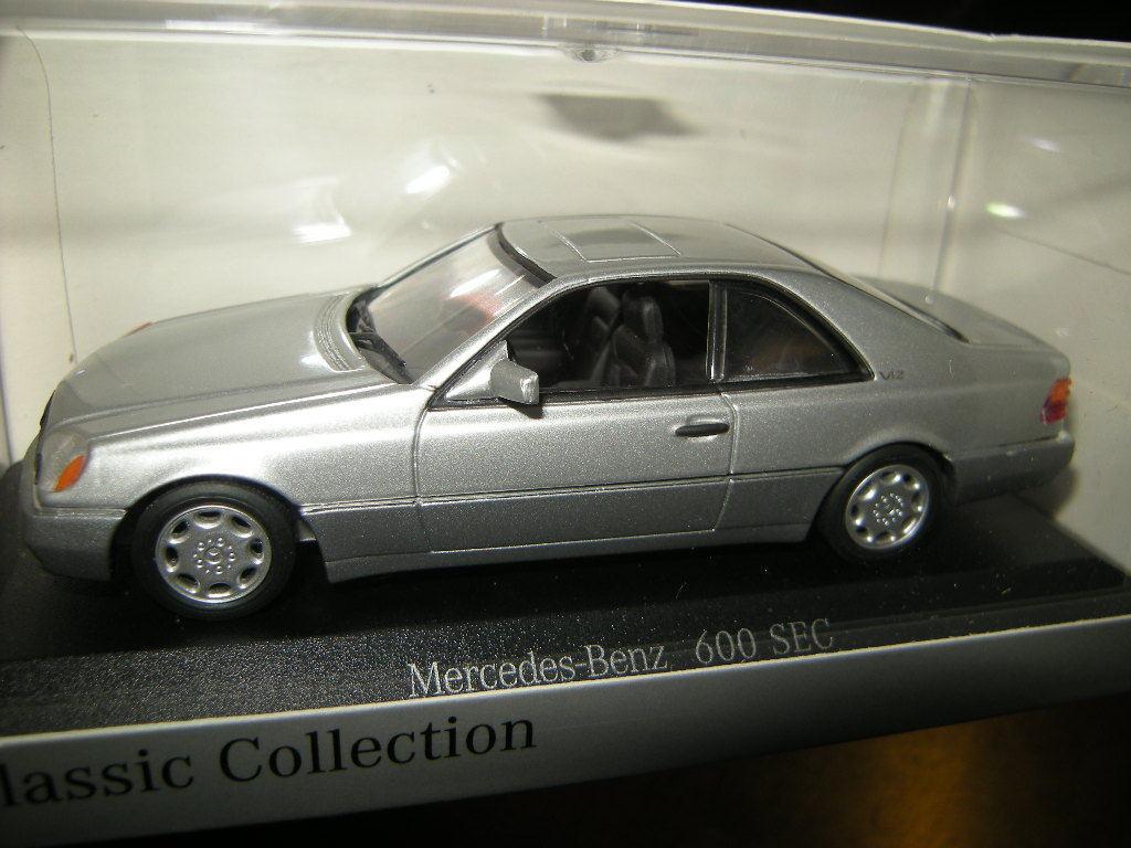 1 43 Minichamps Mercedes-Benz 600 SEC W140 silber Silber OVP