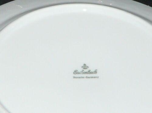 Eschenbach la Reine Steublume grüne Ranke Frühstücksteller Teller 19 cm