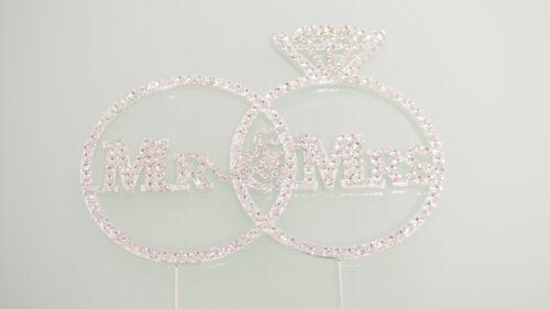 Bling Wedding Cake Topper Crystal Diamond Rhinestone English Spanish Baby Shower