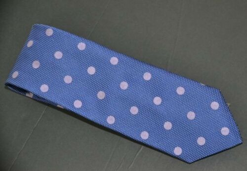 NWT $125 Samuelsohn Italian Made Blue w//Dots /& Micro Dots  59 X 3