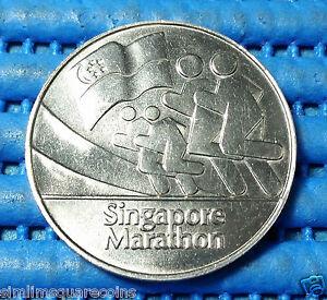 1982 Singapore The Inaugural Official Singapore Marathon Medallion