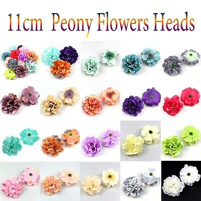 DIY 20Pc 6cm Artificial Fake Rose Silk Flower Head Wedding background wall Decor