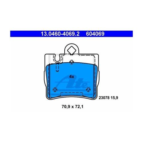 Scheibenbremse  Hinten für Mercedes-Benz ATE 13.0460-4069.2 Bremsbelagsatz