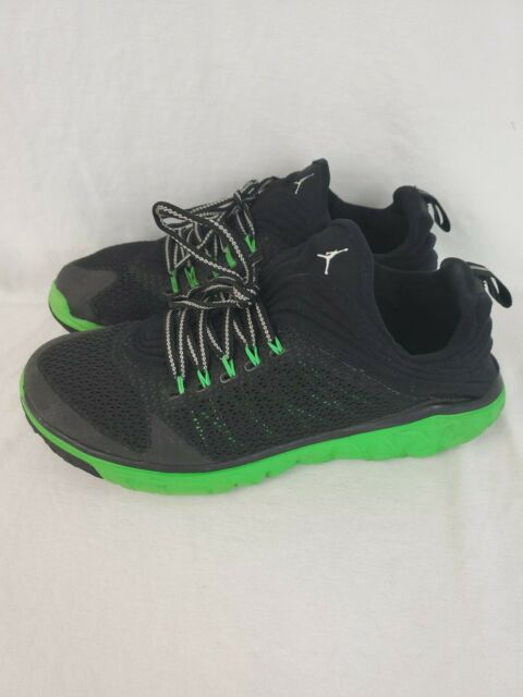 new products 8bc56 60883 Men's Nike AirJordan Flight Flex Trainer Shoes 654268-033 Black/Green Size  9.5