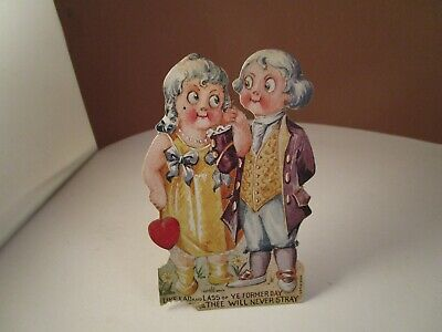 Vintage Valentine Greeting Card Standing George Martha ...