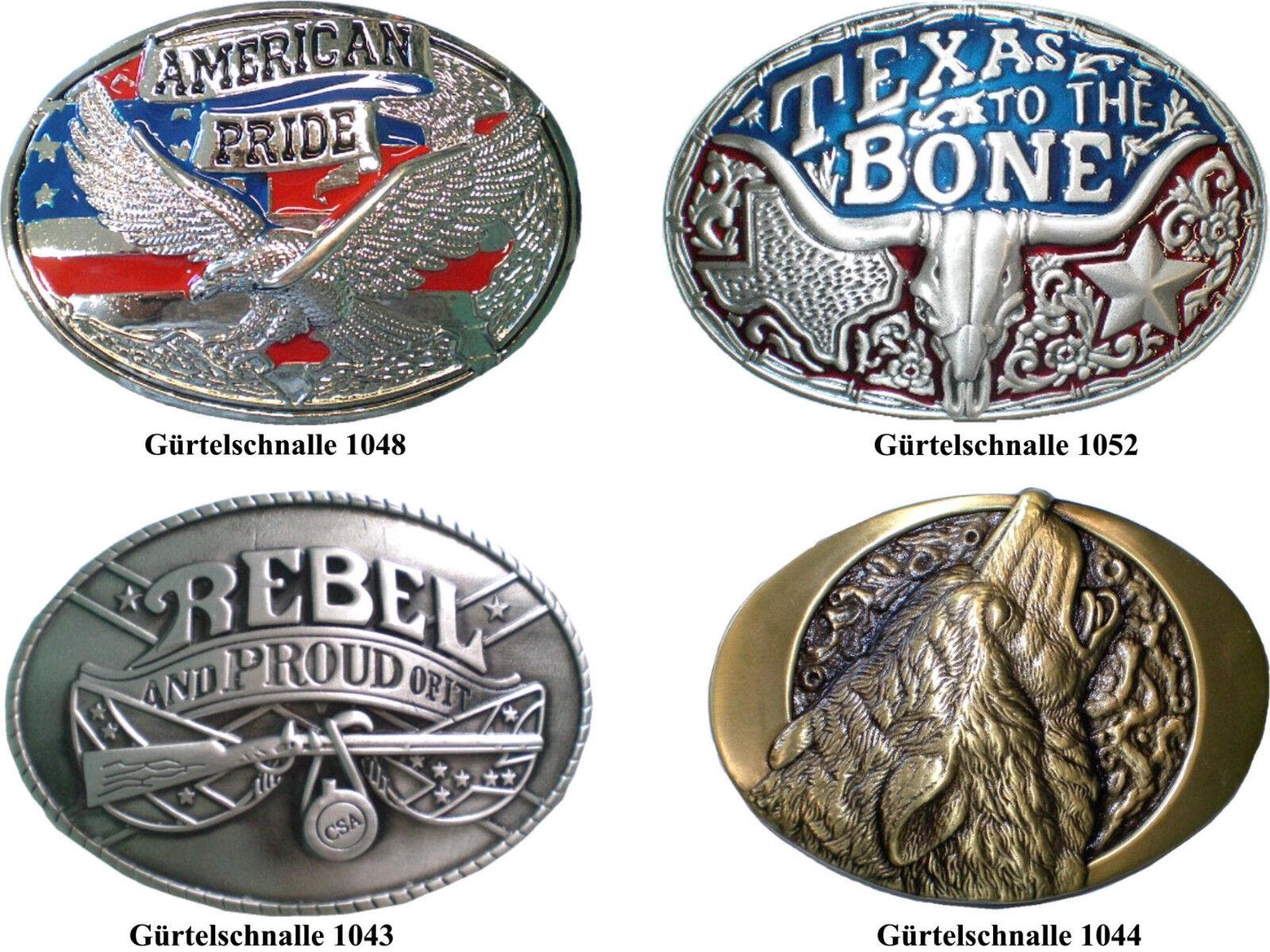 Gürtelschnalle Gürtelschließe aus Metall Adler Wolf Rebel Buckle Biker Western