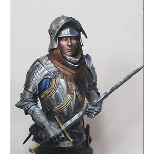 1-10-Knight-Bust-Resin-Figure-Model-Kit-Unassambled-Unpainted-NO-BASE