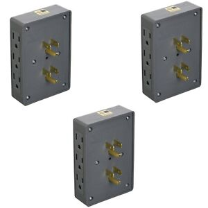 3-PACK-SIDE-ENTRY-6-WAY-ELECTRICAL-SOCKET-OUTLET-SPLITTER-IN-WALL-TAP-ADAPTER