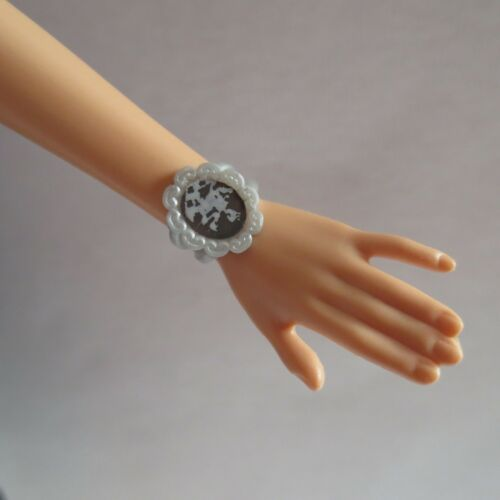 NEW Barbie Doll Matte Silver /& Black Bracelet ~ Jewelry Clothing Accessory