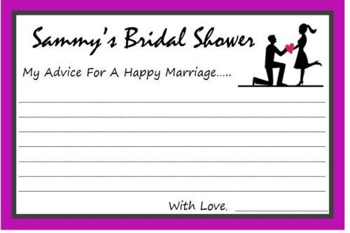 Party Games Bridal Shower Game Wedding Wishes // Advice 14 Personalized