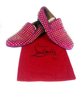 e6f4bdcdeeb Details about 100% Authentic CHRISTIAN LOUBOUTIN Rollerboy Spikes Flat  Loafers 41 / 8