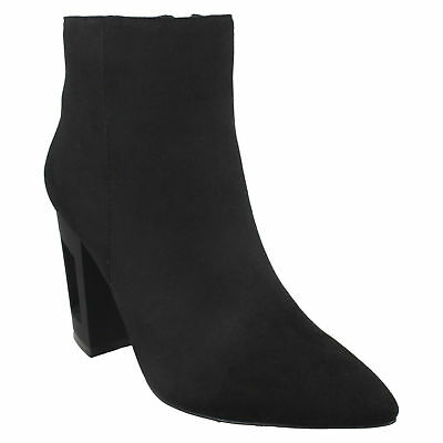 Spot On Ladies Heeled Ankle Boots