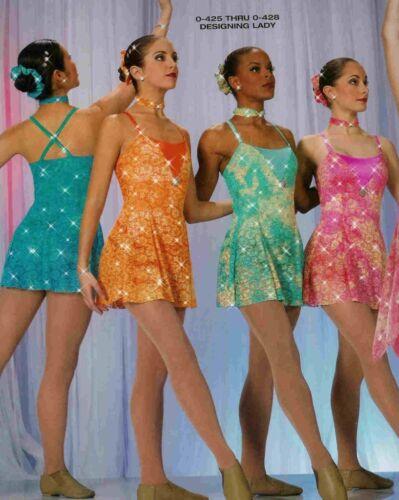 Dance Costume  Lyrical Tap Jazz Pageant dress designing lady