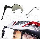 Bicycle Bike Safe Rear View Riding Helmet Mirror Third Eye Black 360 Adjustable