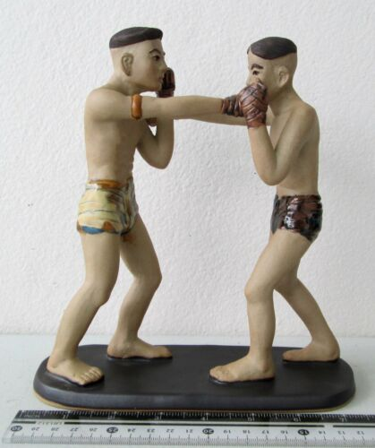 NiCe! Porcelain Muay Thai Boxing Figures Straight Punch 100% HANDMADE