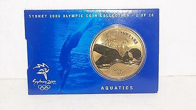 Commemorative 2000 Sydney Australia Olympics Aquatics $5.00 Dollar Bronze Coin Medal Km436 Bu Comfortable And Easy To Wear Australia
