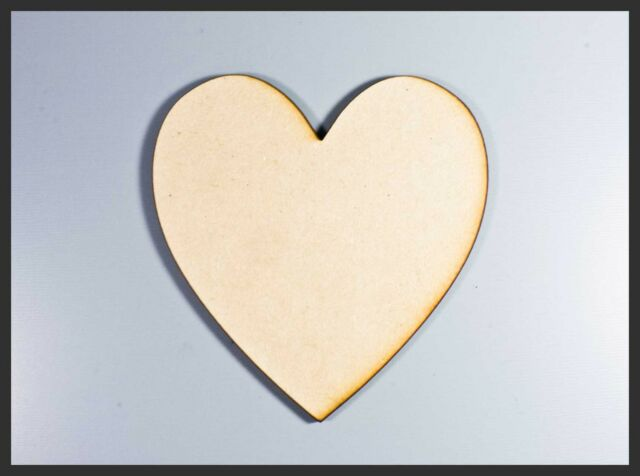 Wooden Wood  RAW MDF Heart Shaped Love Wedding Home Party Plaques Signs Cutouts