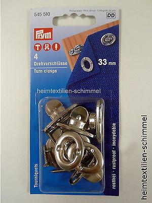 Prym 2 Tenax Sperrverschlüsse 20 mm silberfarbig für Camping 416495
