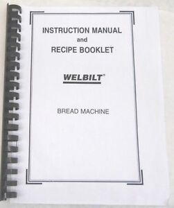 welbilt bread machine maker manual abm4800 abm4900 abm6000 abm6200 rh ebay com Welbilt Bread Maker Breadman Bread Machine