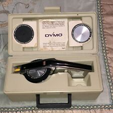 Vintage Dymo Deluxe 1570 Label Maker In Case With Embossing Wheels Amp Case
