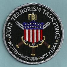 FBI PENNSYLVANIA - WEST VIRGINIA JTTF JOINT TERRORISM TASK FORCE POLICE PATCH