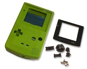 Game-Boy-Gameboy-Color-GBC-Lime-Green-Shell-Case-Housing-w-Screen-amp-Tools-UK