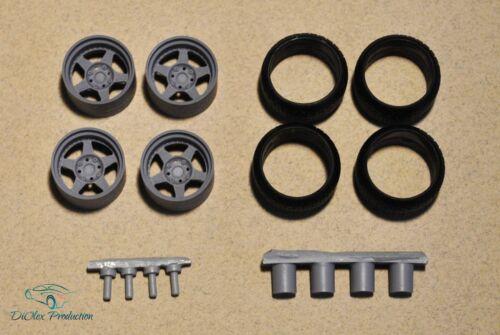1//24 wheels 15 inch Work Meister CR01 w stance tires for Tamiya Aoshima Hasegawa